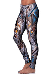 Multi Colored Sacred Geometry Leggings Side View
