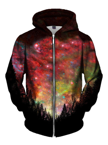 Rasta Woods Zip-Up Hoodie - GratefullyDyed - 3
