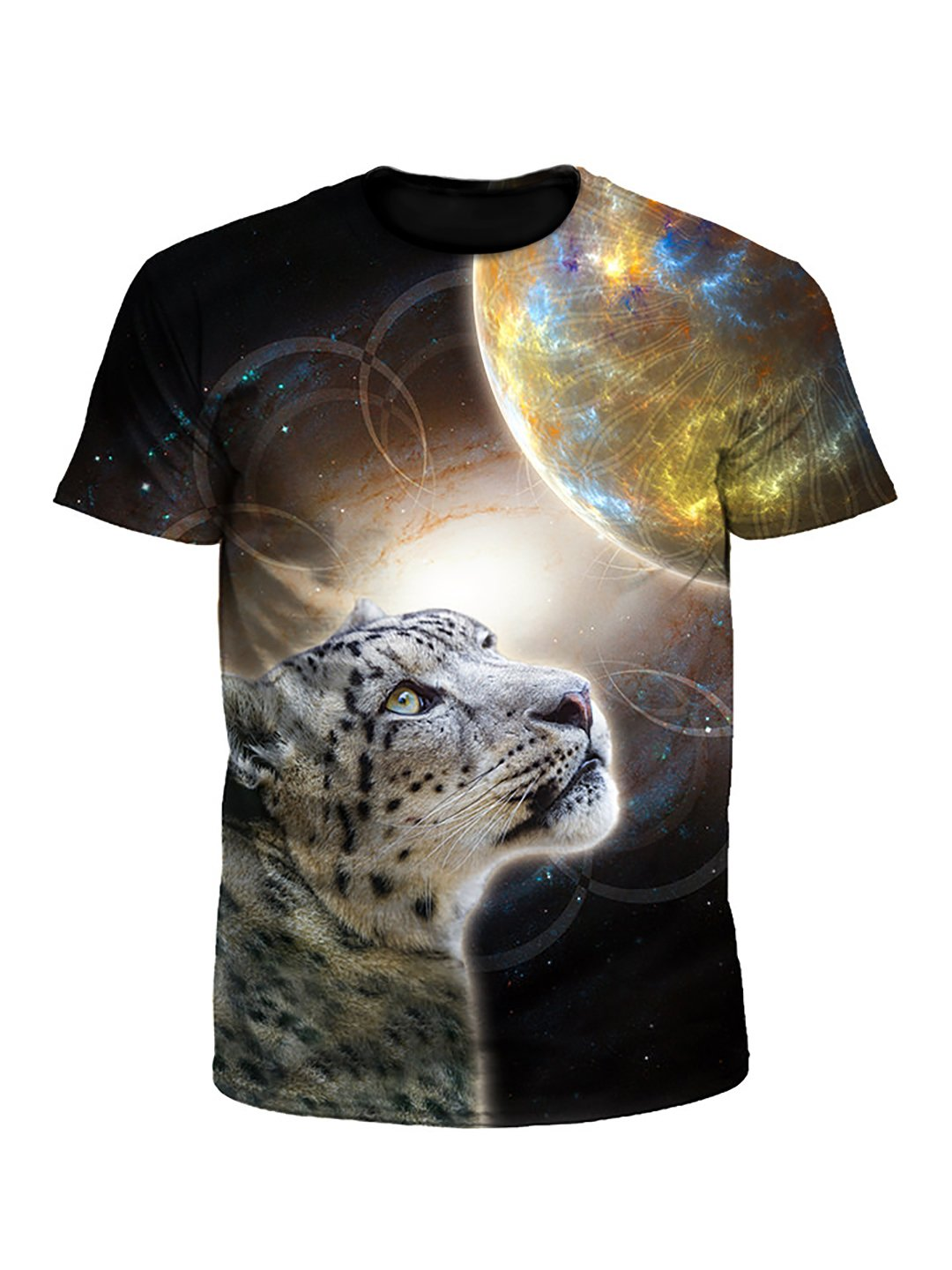 Sky Leopard Space Cat Unisex T-Shirt