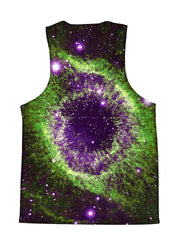 Psychedelic all over print space tank by GratefullyDyed Apparel back view.