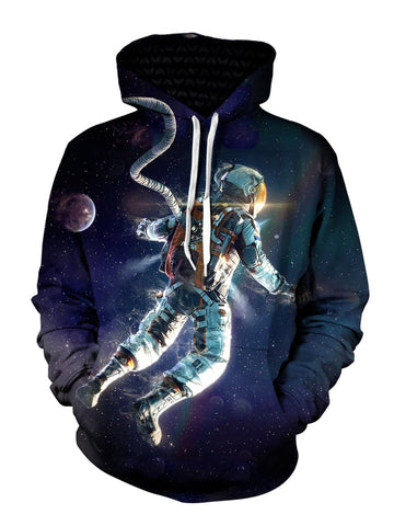 astronaut in space pullover hoodie