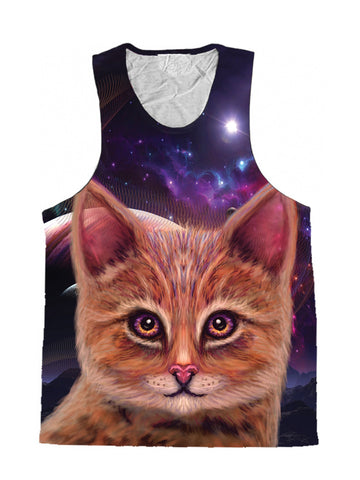 Space Cat Art Tank