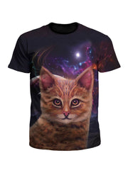 Space Cat Art Tee