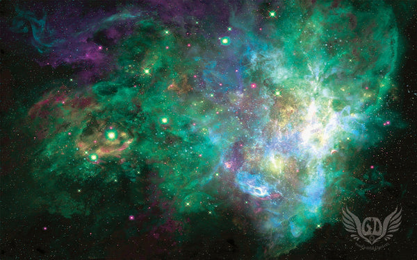 Psychedelic Space Wallpaper - Galactic Green Galaxy - GratefullyDyed - 1