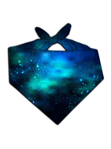 Dark blue bandana with light blue tied