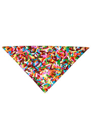 Diagonally folded psychedelic birthday foodie printed headband.