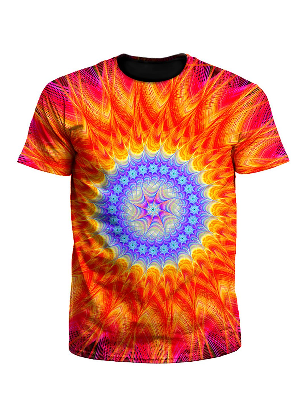 Super Saiyan Fire & Ice Mandala Unisex T-Shirt
