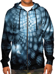 Trippy Honeycombs Zip Up Hoodie Front