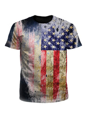 Tattered Flag Rustic 4th Of July Unisex T-Shirt