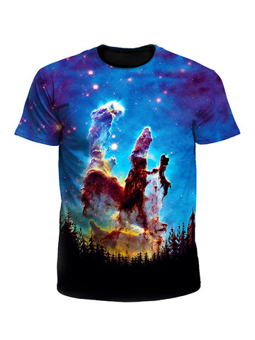 Tree Space Forest Galaxy Unisex T-Shirt
