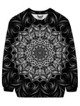 Trippy Black And White Mandala Sweater Front View