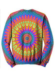 Neon Hippie Trippy Sweater Back View