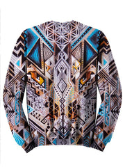 Trippy Colorful Hippie Design Sweater Back