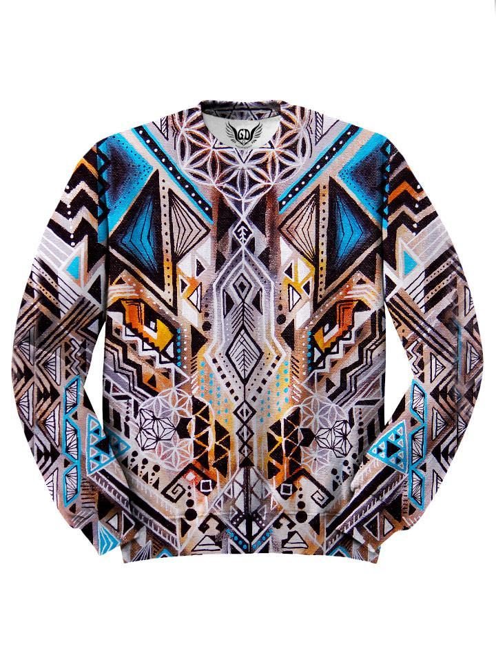 Colorful Trippy Hippie Design Sweater Front View