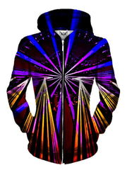 Neon Lights On Black Womens Pullover Hoodie Front View