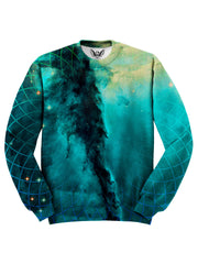 Geometric Cloud Cluster Space Sweater