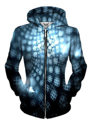 Trippy Honeycombs Zip Up Hoodie Womens Front