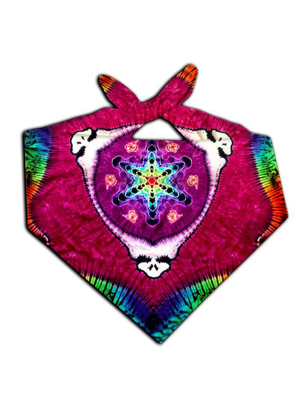 Kaleidoscope grateful dead steely all over print bandana tied
