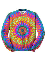 Trippy Hippie Colorful Sweater Front View