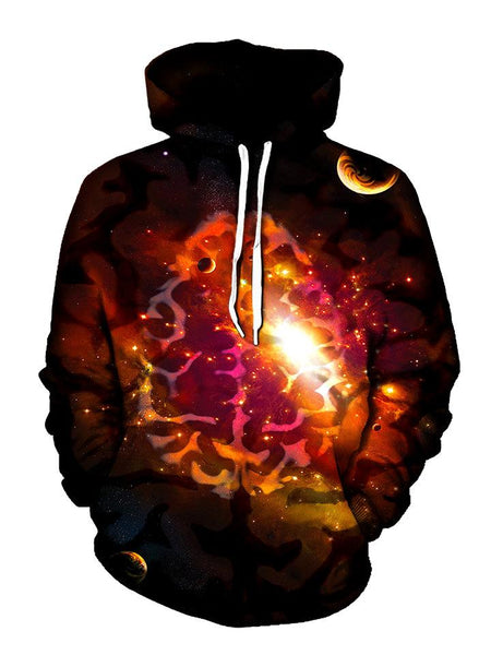 Trippy Brain In Space Pullover Hoodie Front View
