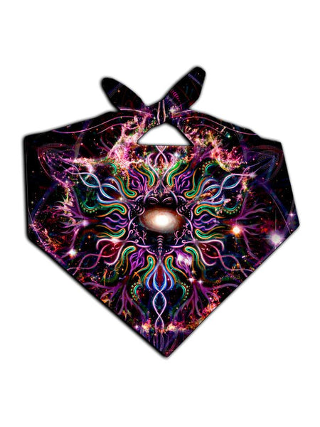 Psychedelic multi colored all over print bandana