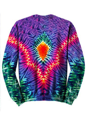Tye Dye Trippy Colorful Sweater