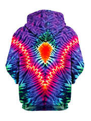 Trippy Neon Colors Pullover Hoodie Back View