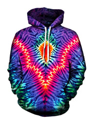 Trippy Neon Colors Pullover Hoodie Front View