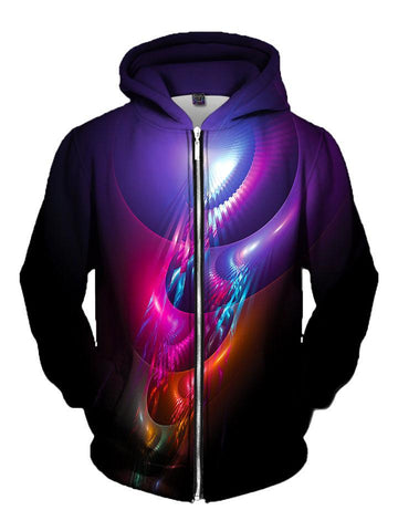 Trippy Multi Colored Deep Purple Zip Up Hoodie