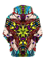 Trippy Hippie Print Pullover Hoodie Back View