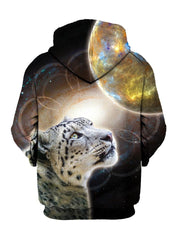 Yellow Space Leopard Pullover Hoodie Back View