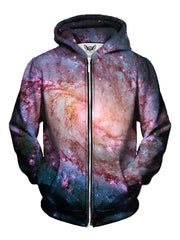 Twisted Skies Space Print Zip Up Hoodie