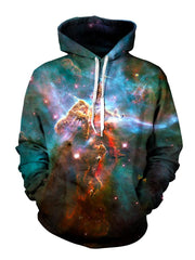 Space Aura Pullover Hoodie Front View