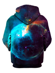 Red And Blue Trippy Space Pullover Hoodie Back View