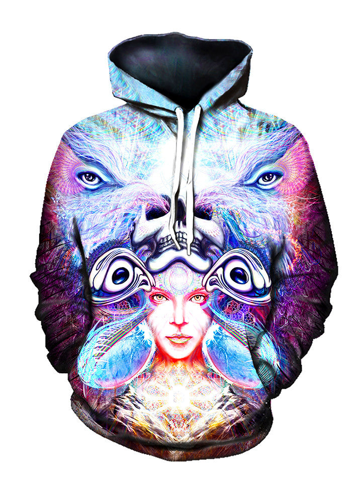 Repressed Illumination Pullover Art Hoodie - GratefullyDyed - 1