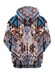 Trippy Colorful Bohemian Pullover Hoodie Back View