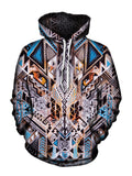 Trippy Colorful Bohemian Pullover Hoodie Front View