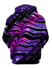 Psychedelic Pink And Purple Pullover Hoodie Back View
