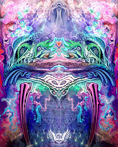 Symetricity Free Visionary Artwork Wallpaper - GratefullyDyed - 1