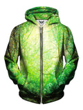 Green Forest Zip Up Hoodie Front