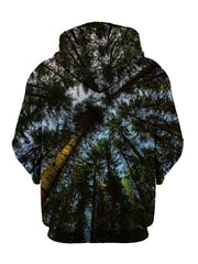 Trippy Worms Eye View Forest Hoodie Back View