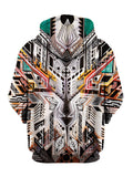 Trippy Boho Multi Colored Pullover Hoodie Back View