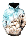 Vivid Beach Shoreline Pullover Hoodie Front View