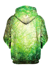 Hippie Green Outdoors Pullover Hoodie Back View