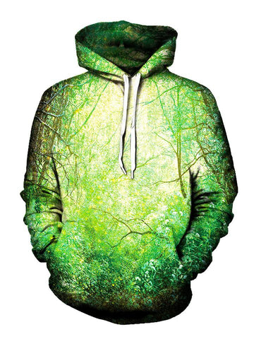 Green Outdoors Pullover Hoodie Front View