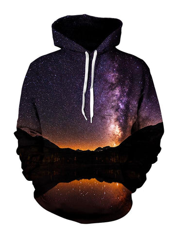 Starlit Space Reflection Pullover Hoodie Front View