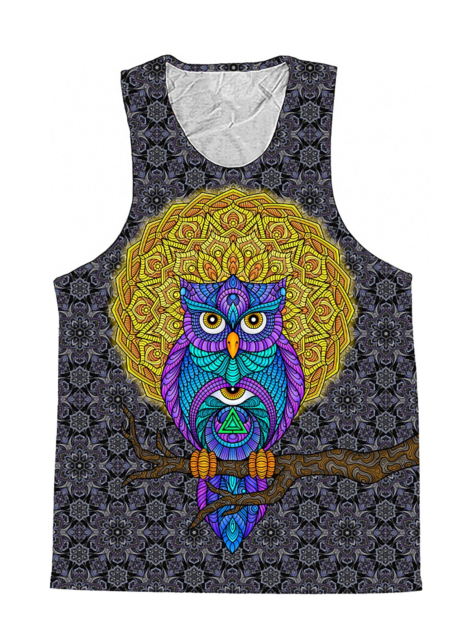 Watch Over Me Sacred Geometry Owl Premium Tank Top