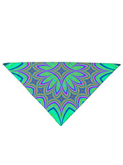 Diagonally folded psychedelic sacred geometry printed headband.