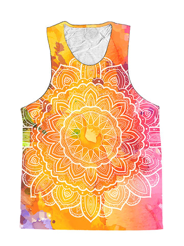 Water Colors Rainbow Mandala Premium Tank Top