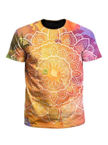 Water Colors Rainbow Mandala Unisex T-Shirt